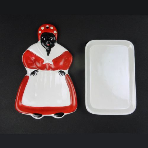 Black Americana Mammy Ceramic Spoon Rest and Sponge Holder