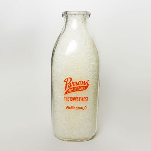 Parsons Jersey Dairy Vintage 1949 Quart Milk Bottle