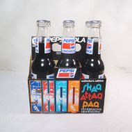 Six Different Shaq Full Pepsi Bottles in Carton