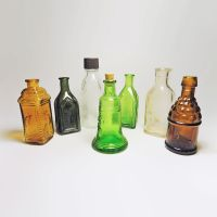 Miniature Vintage Glass Bottles from Various Makers