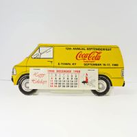 Coca Cola School Bus 1989 Advertising Desk Calendar