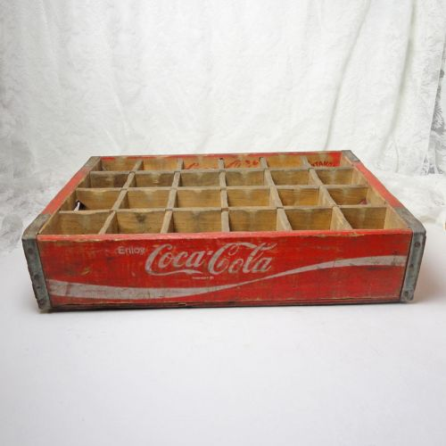 Coca Cola 24 Bottle Slot Wood Crate Case Chattanooga 1974
