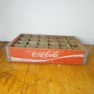 Coca Cola Vintage 24 Bottle Wood Slotted Crate Case