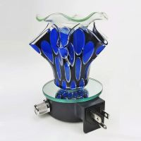 Blue Ovals on Black Plugin Electric Oil Tart Warmer