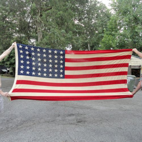 Bull Dog Bunting 48 Star American Flag 5 by 9-1/2 Feet