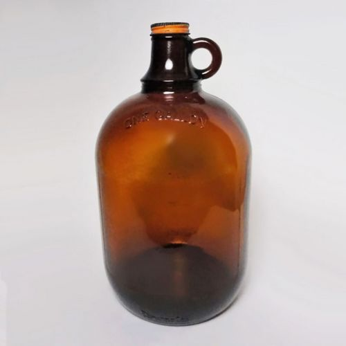 Vintage A & W Brown Gallon Thumb Handle Jug Screw Top
