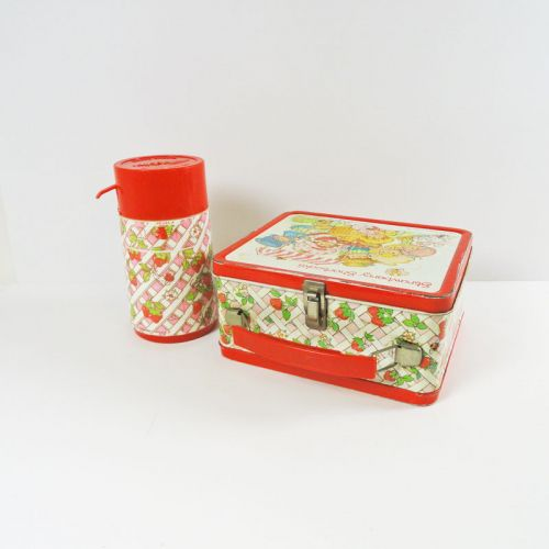 Strawberry Shortcake 1981 Metal Lunch Box with Thermos