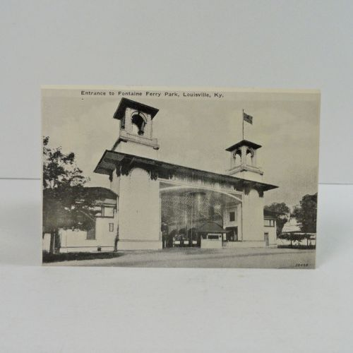 Fountaine Ferry Park Entrance Vintage Photo Postcard