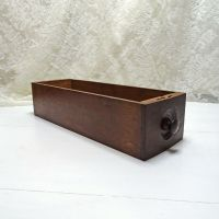 Vintage Wood Sewing Machine Drawer with Knob No 7