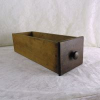 Vintage Wood Sewing Machine Drawer with Knob No 6
