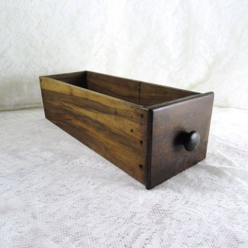 Vintage Wooden Sewing Machine Drawer with Wood Knob No 3