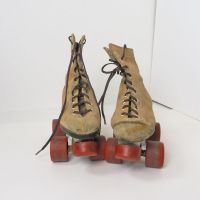 Roller Skates Suede Boots with Metal Chassis Size 13