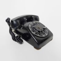 Bell System Black 1956 Vintage Rotary Dial Telephone