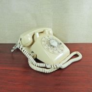 South Central Bell Ivory Vintage Rotary Dial Telephone