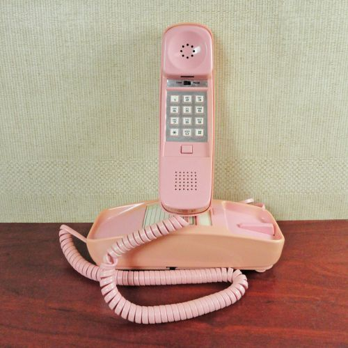 Pink Trimline Push Button Telephone