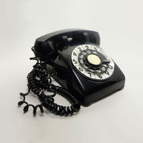 Bell Western Electric Black Rotary Telephone Metal Dial with Cover