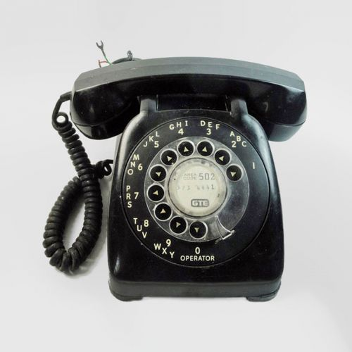 GTE Automatic Electric Vintage Black Rotary Dial Telephone
