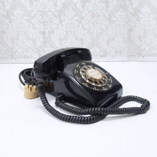 Ohio Bell 1970s Black Vintage Rotary Dial Telephone