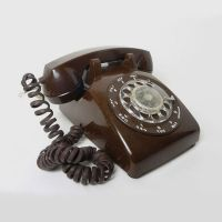 ITT Brown Vintage Rotary Dial Desk Telephone