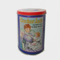 Cracker Jack Popcorn Confection Vintage Canister with Lid