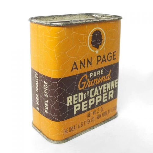 Ann Page Pure Ground Red or Cayenne Pepper Unopened Spice Tin