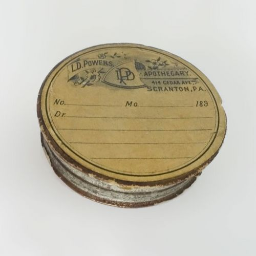 L.D. Powers Apothecary Two Piece Prescription Container