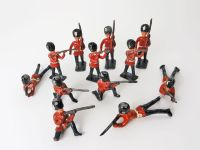 Lot of 12 Vintage Metal British Toy Soldiers