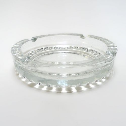 Ravenhead Clear Glass Vintage Ashtray made in England