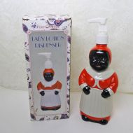 Black Americana Lady Lotion Dispenser in Box