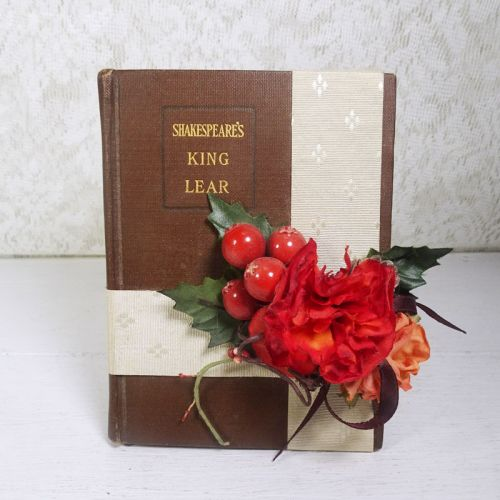 King Lear Book with Decorative Ribbons and Flowers