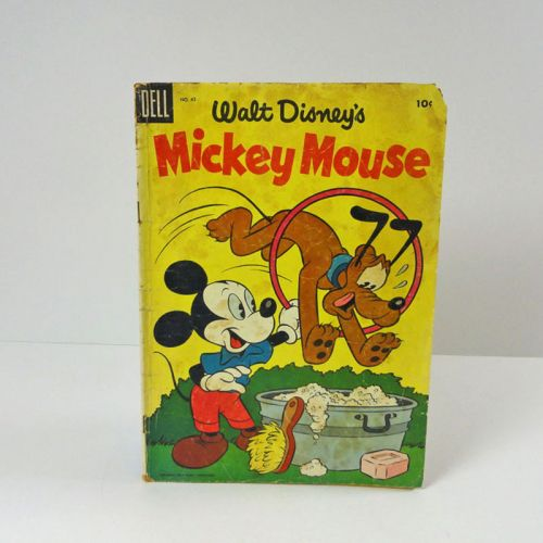 Dell 1955 Walt Disneys Mickey Mouse and Pluto Comic Book