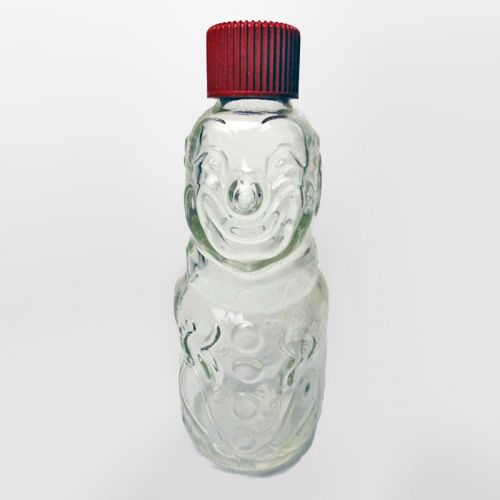 Bo Bo the Clown Vintage Figural Children Medicine Bottle