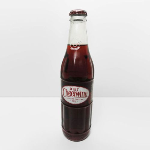 Diet Cheerwine Full 12 oz. Glass Soda Bottle