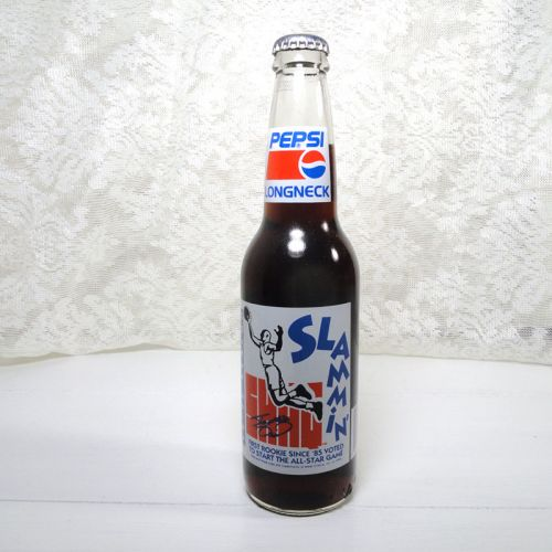 Shaq Slammin Full Longneck Pepsi Bottle 1992-1993