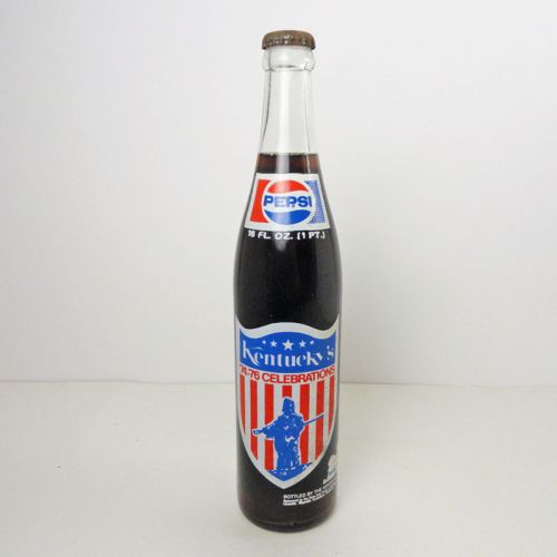 Pepsi 1975 Kentucky Celebrations 16 oz. Full Soda Bottle