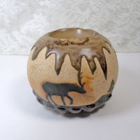 Deer in the Forest Tealight Candle Incense Holder
