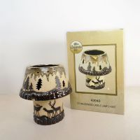 Deer in the Woods 2 Piece Tealight Candle Lamp