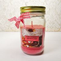 Strawberry Shortcake 9.5 oz. Scented Candle Glass Jar