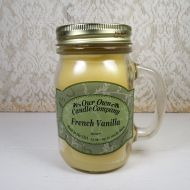 French Vanilla 13oz Scented Candle Large Glass Mug