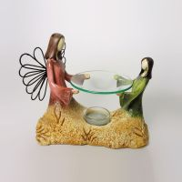 Angel and Child Emerging from the Earth Candle Warmer