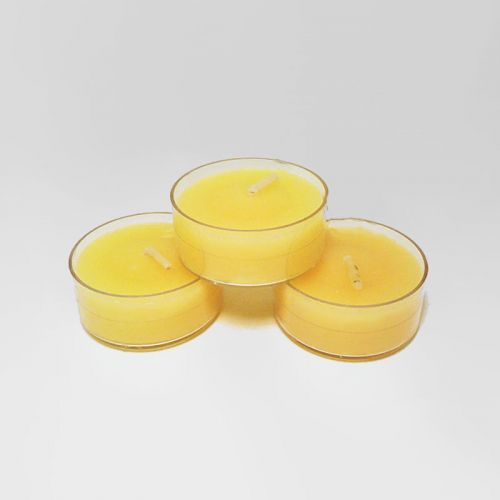 Three Tahitian Coconut Scented Tealight Candles