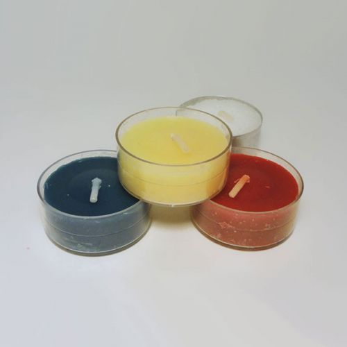 Three Varied Scented One Unscented Tealight Candles Lot 3