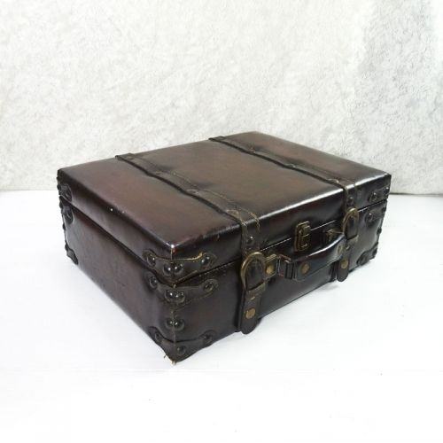 Hobby Lobby Large 16 in Faux Leather Trunk Case
