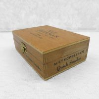 Nat Sherman Metropolitan Quick Smokes Empty Wood Cigar Box