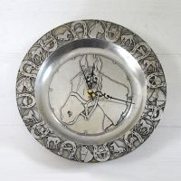 Wilton RWP Pewter Horse Inspired Wall Clock