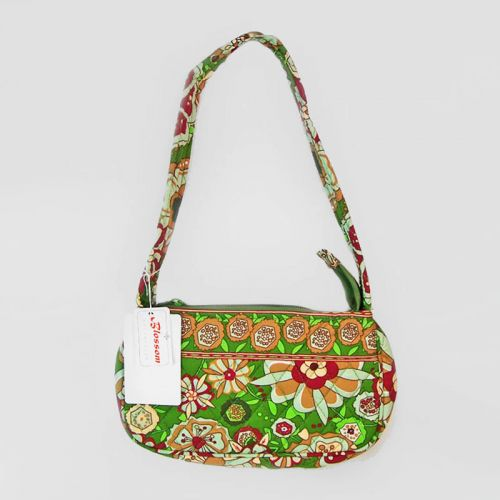 Fun Retro Flower Theme Quilted Shoulder Bag from Blossom Collection