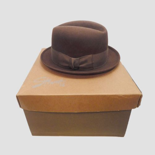 Vintage United Hatters Fedora Hat in Original Stewart's Box Louisville Kentucky