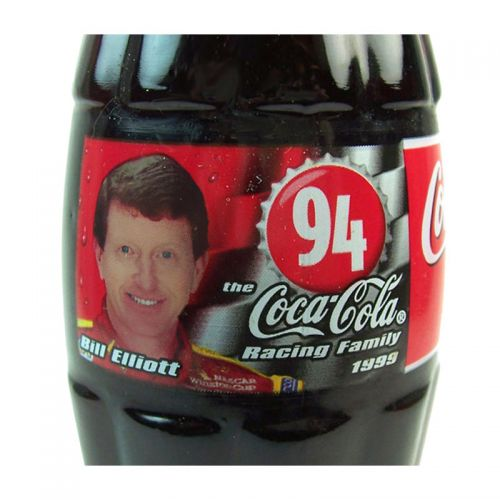 Bill Elliott Nascar No. 94 Full Coca Cola Racing Bottle