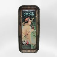 Coca Cola Elaine Metal Tray World War One Girl