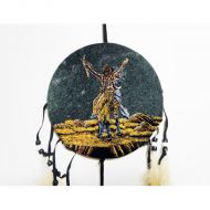 Dreamcatcher Colorful Dancing Indian Warrior Raise Arms